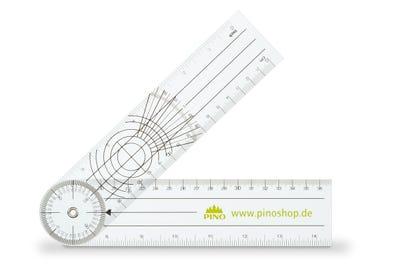 Winkelmesser aus flexiblem Kunststoff