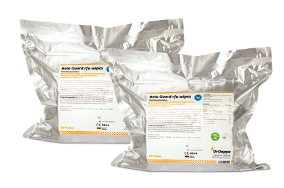 Nachfüllpack Dr. Deppe Beta Guard RFU alkoholfreie Tücher zur Flächendesinfektion 2er Pack