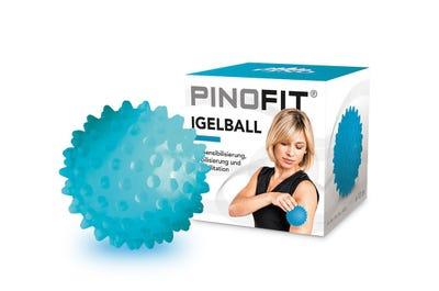Geschenkaktion PINOFIT Igelball transparent azure 60 Stück