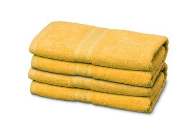Handtücher aus Flausch-Frottee yellow 4er Pack
