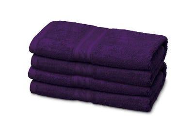 12 Gästehandtücher aus Flausch-Frottee, purple