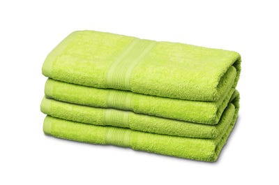 Handtücher aus Flausch-Frottee lime 4er Pack