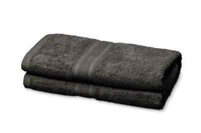 Saunalaken aus Flausch-Frottee grey 2er Pack