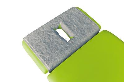 PINOTEX Frottee Nasenschlitztücher light grey 5er Pack