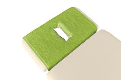 PINOTEX Frottee Nasenschlitztücher extra lime 5er Pack