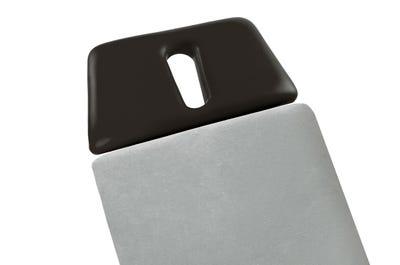 Liegen-Spannbezug 80 cm Breite ohne Kopfteil auf Liege, light grey