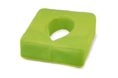 Nasenschlitzkissen mit Gel-Einsatz und hautschmeichelndem Bezug in Lime