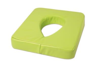 Ersatzbezug aus PU für Nasenschlitzkissen mit Gel-Einsatz lime