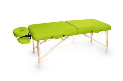 Koffer Massagebank Buchenholz lime