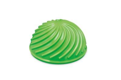 Halbball mit gewellter Oberfläche in Lime