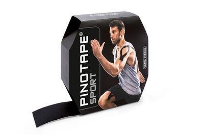 PINOTAPE Kinesiologie Tape Sport schwarz in Profi-Größe für Viel-Taper