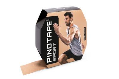 PINOTAPE Kinesiologie Tape Sport light beige in Profi-Größe für Viel-Taper