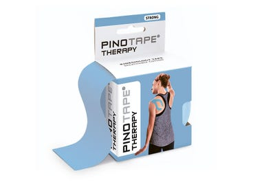 Kinesiologie Tape PINOTAPE therapy ice blue mit Verpackung