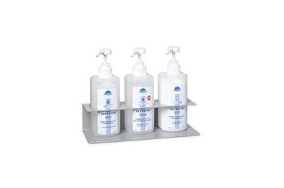 Flaschenhalter aus Stahlblech für drei 500 ml SEPTAPIN-Flaschen | PINO