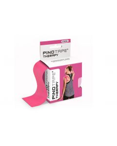 Kinesiologie Tape PINOTAPE pro therapy pink mit Verpackung