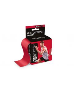 Kinesiologie Tape PINOTAPE pro Sport red mit Verpackung