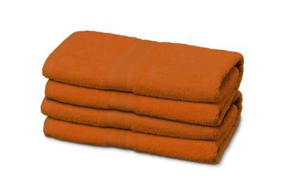 Gästehandtücher aus Flausch-Frottee terracotta 12er Pack