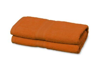Duschtücher aus Flausch-Frottee terracotta 2er Pack