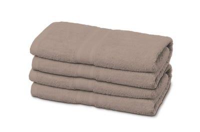 Handtuch sand in sandfarbenem Beige.