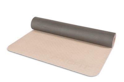 PINOFIT® Yogamatte Lightweight warm grey/dark grey