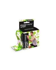 Kinesiologie Tape PINOTAPE pro Sport green flower mit Verpackung