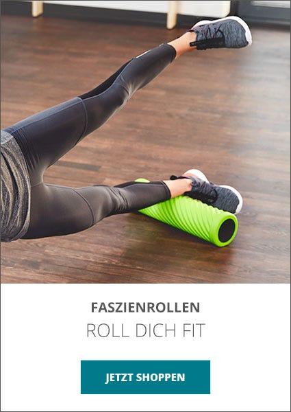 Roll dich fit mit einer Faszienrolle