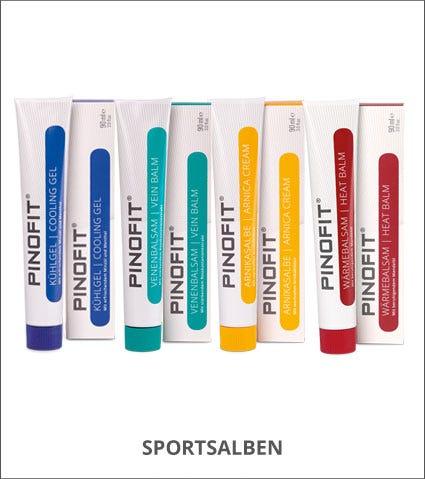 PINOFIT Sportsalben: Wärmebalsam, Kühlgel, Sport- & Venenbalsam, Arnikasalbe